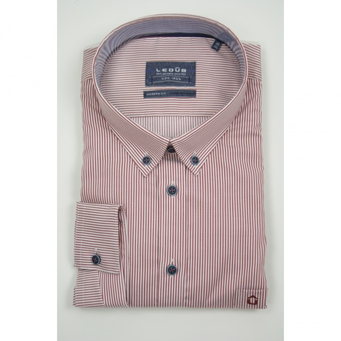 Ledub lange mouw shirt G+G Fit Red Stripe
