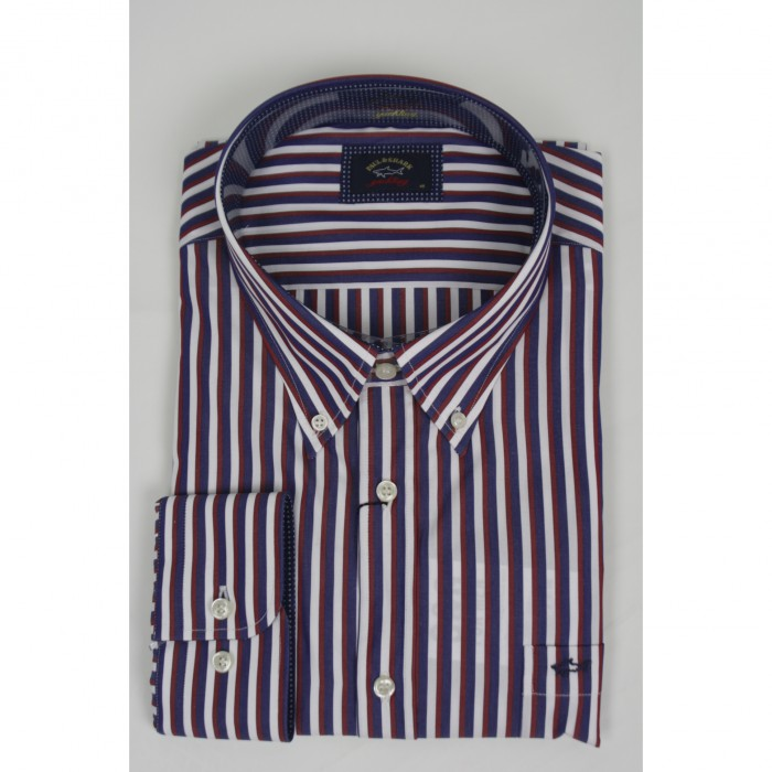 Paul&Shark lange mouw shirt Red stripe