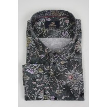 Culture Shirt lange mouw Regular Fit grey print