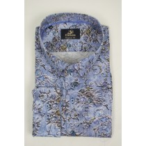 Culture Shirt lange mouw Regular Fit blue print