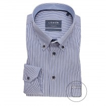 Ledub moss blue stripe dress shirt ML7 3262