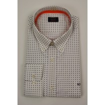 Paul&Shark White/Blue dot shirt Lange mouw 2768