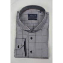 Le Dub special fit light brown check shirt 2883