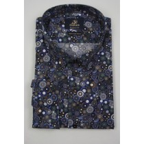 Culture print Shirt extra lange mouw Modern Fit