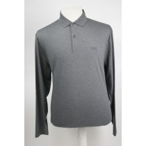Hugo Boss Polo lange mouw Medium grey