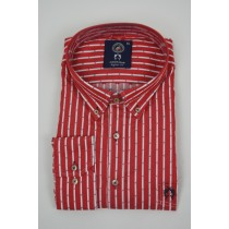 Campione Yachting Red satin Stripe 2760
