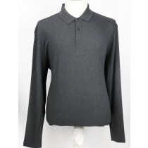 Hugo Boss luxe polo longsleeve dark grey 3228