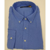 Ralph Lauren soft linnen Fresh Blue shirt 3299