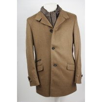 Lavard wool/Cashmere jas Camel brown