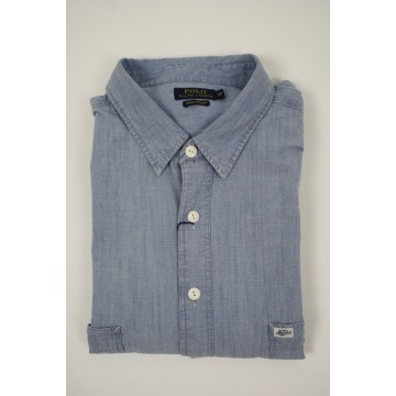 Polo Ralph korte mouw Chambray indigo natural 1922